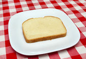 One slice of bread - making a blt — Stock Photo