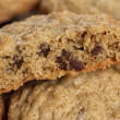 Chocolate chip cookie macro — Stock Photo