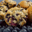 Blueberry muffin stack — Stock Photo