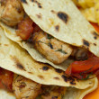 Stock Photo: Charred tomato chicken tacos