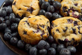Deska borůvkové muffiny — Stock fotografie