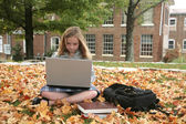 Student studying outdoors — Stock Photo