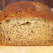 Banana bread closeup - Stock Photo