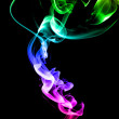 Colored smoke - Stock Photo