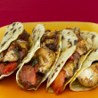 Chicken tacos — Stock Photo