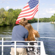 Couple on boat — Stock Photo