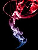 красный и синий дым — Стоковое фото