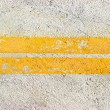 Stock Photo: Yellow road lines