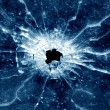 Window bullet hole - Stock Photo