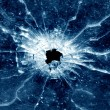 Stock Photo: Window bullet hole