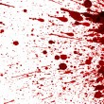 Dry blood splatter — Stock Photo