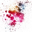 Colorful ink splatter - Stock Photo