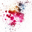splatter di inchiostro colorato — Foto Stock