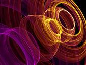 Abstrait avec anneaux colorés — Photo