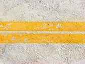 Yellow road lines — Stock Photo