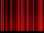 Old red theater curtain — Stock Photo
