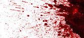 сухая кровь брызги — Стоковое фото