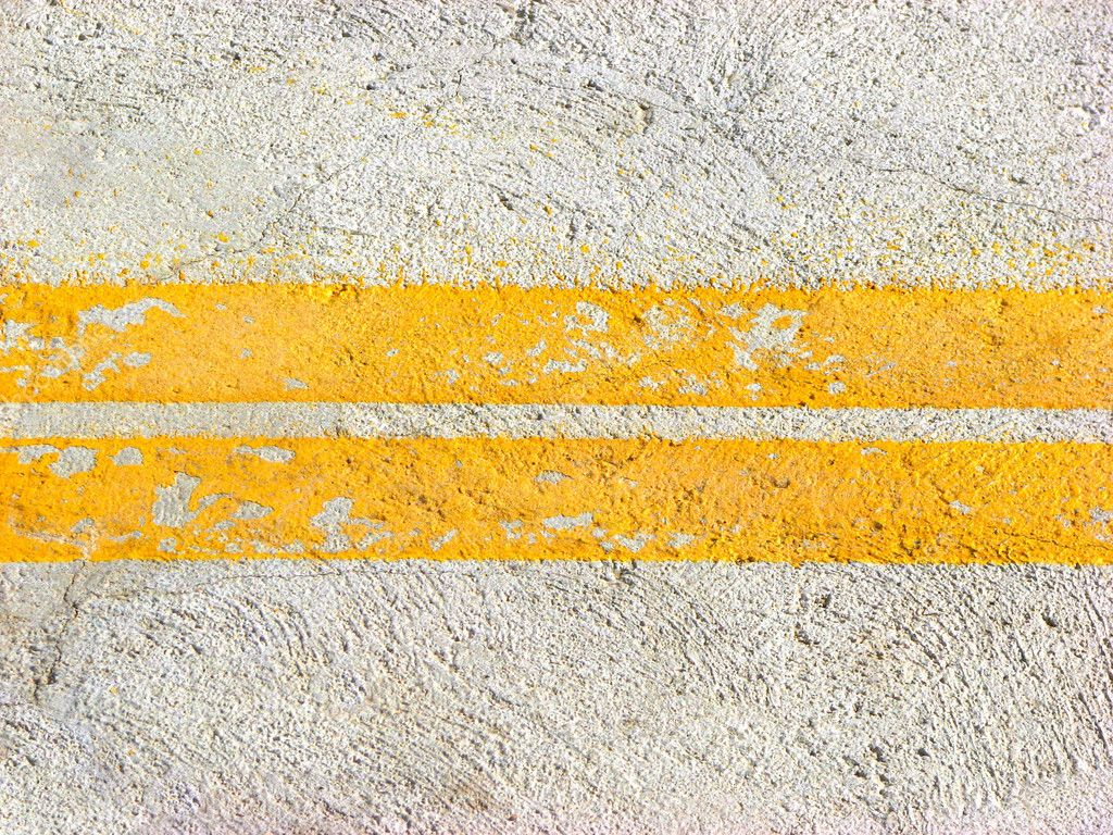 Two yellow colored road lines — Stock Photo #2832743