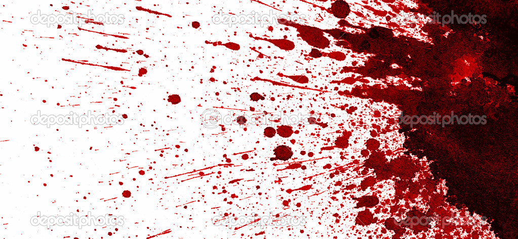 Dry blood stain on white background — Stock Photo #2832864