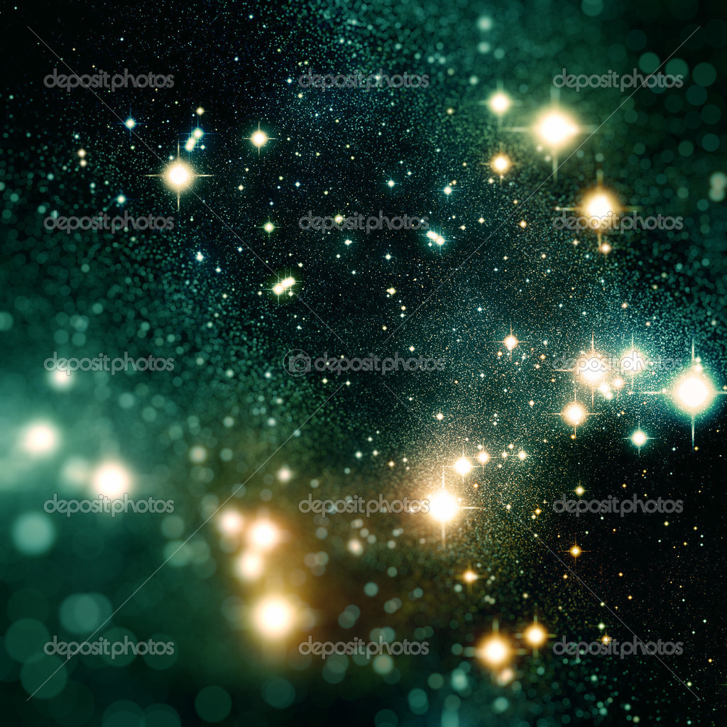 Colorful deep space scene with bright stars — Stock Photo #2832886