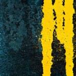 Yellow paint leak — Stock Photo