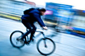 Speeding bike — Stock Photo