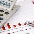 Calculator, pen and Business Chart — Stock Photo #3075905