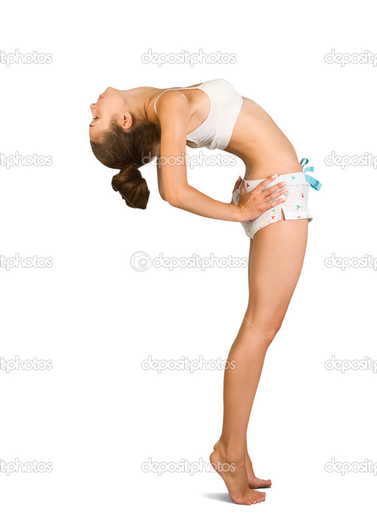 Attractive young woman is doing some exercises — Stock Photo #3485725