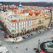 The Old Town Square in the center of Prague City - 图库照片