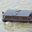 Touristic ship on the river Vltava in Prague — Stock Photo