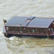 Touristic ship on the river Vltava in Prague — Stock Photo