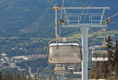 Chair lifts at Whistler Peak British Columbia — Stock Photo