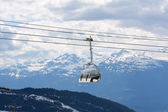Chair lift at Whistler Peak British Columbia; — Stock Photo