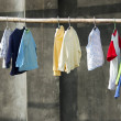 Clothes hanging on bamboo - Stock Photo