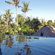 Villa in Bali with swimming poor - Stock Photo