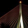 Structure of bridge in night - Stock Photo