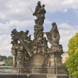 Statue on Charles Bridge,Prague — Stock Photo