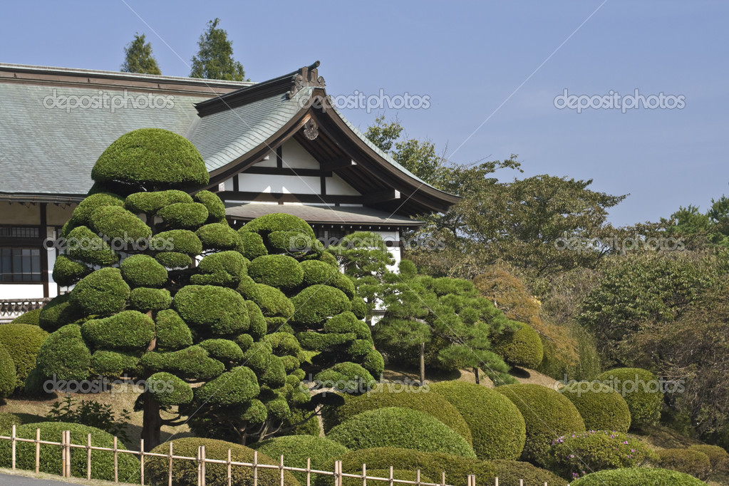 Specific Japanese garden at the Shiogama Temple,Miyagi,Japan. — Stock Photo #3365768