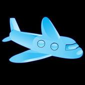 The plane — Stock Vector