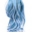 Wig of long blue hair isolated on white — Stock Photo #3086460