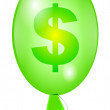 Balloon with sign dollar green — Stock Photo #2811467