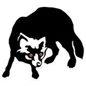 Arctic fox (Alopex lagopus) silhouette — Stock Vector