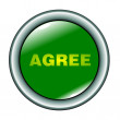 Stock Vector: Button agree