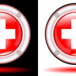 Royalty-Free Stock Vector Image: Button medical sign cross