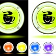 Royalty-Free Stock Vector Image: Buttons the coffee