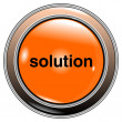 Button solution — Stock Vector