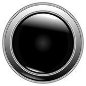 Button black on a white background — Stock Vector