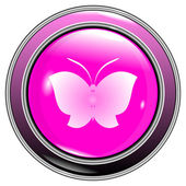 Button butterfly — Stockvektor