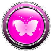 Button butterfly — Vetor de Stock