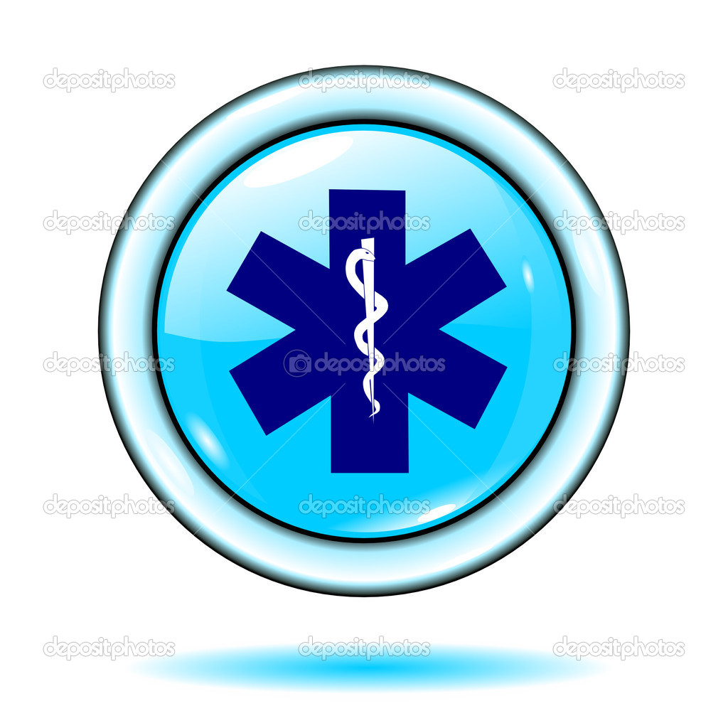 Button medical sign blue isolated on the white background vector eps10 — Stock Vector #3142792
